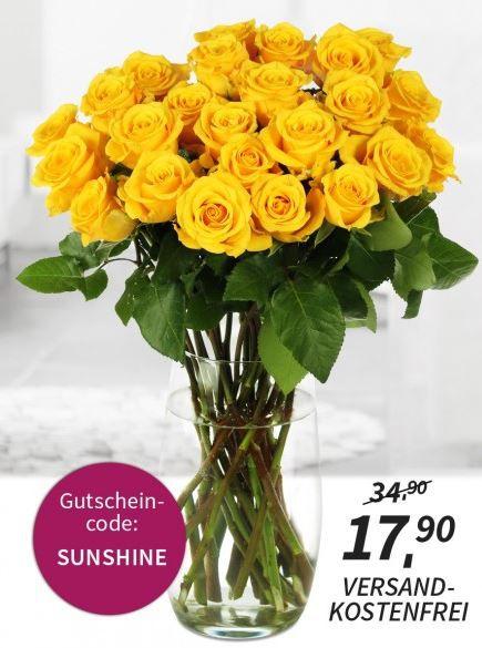 Miflora mit neuer Rosen Rallye: aktuell 26 gelbe Florida Rosen für 17,90€ inkl. Versand