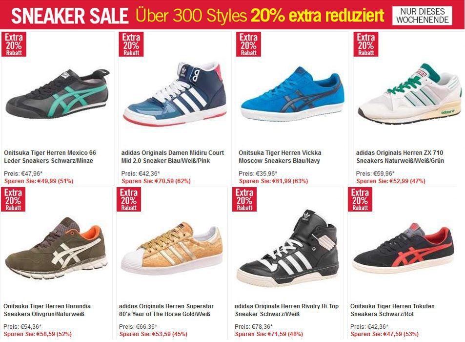sneaker MandMdirect mit 20% Rabatt auf viele Sneaker & andere Sales wie Jack&Jones bis zu 70% günstiger