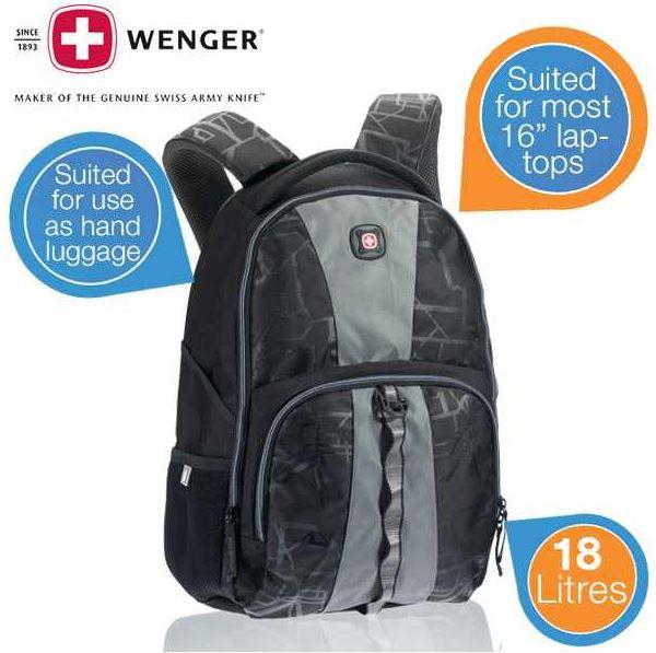 Wenger Bronze Laptop Rucksack   geeignet als Handgepäck für Laptops bis 16 Zoll ab 25,90€