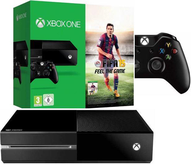 Microsoft Xbox One Konsole (ohne Kinect) + FIFA 15 für 359,10€   dank neuen MeinPaket 10% Gutschein