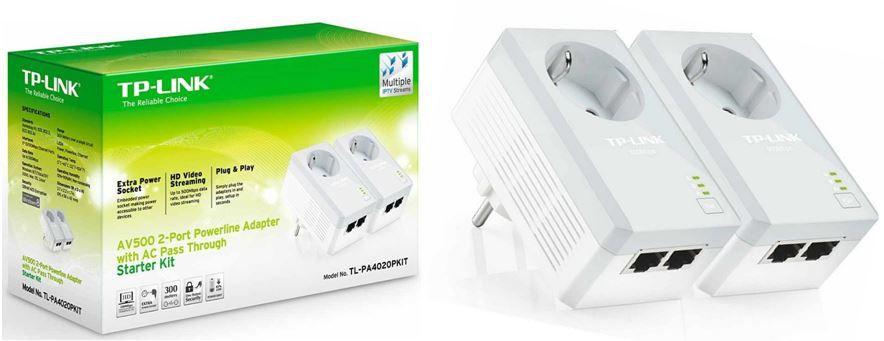Amazon Basic TP LINK 2 Port Nano Powerline AV500 Ethernet Adapter Starter Kit