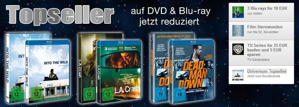 Film Sternstunden und mehr Amazon DVD und Blu ray Angebote