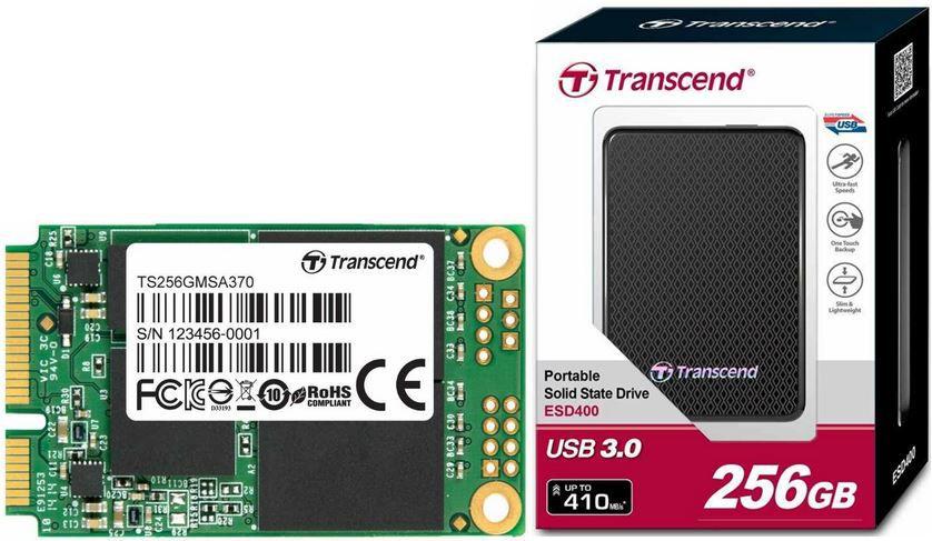 Amazon Speicher1 Transcend MSA370 interne 256GB SSD für 92,90€   Transcend ESD400 externe SSD Festplatte 256GB für 119,90€