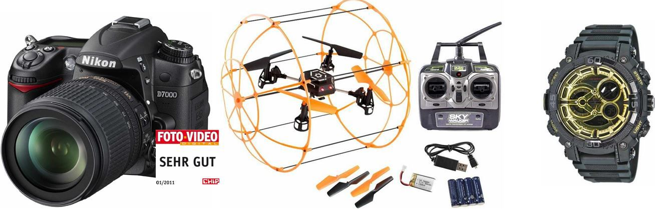 Amazon HMF C698 RC Quadrocopter   4 Kanal Drohne für € bei den 35 Amazon Blitzangeboten