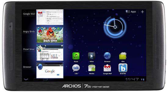 Archos 70b   7 Zoll WLAN Tablet mit 8GB Speicher für 54,39€ (statt 99€)