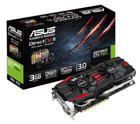Asus GeForce GTX 780 Ti (GTX780TI DC2 3GD5) Grafikkarte für 353,95€ bei Zackzack (statt 406€)