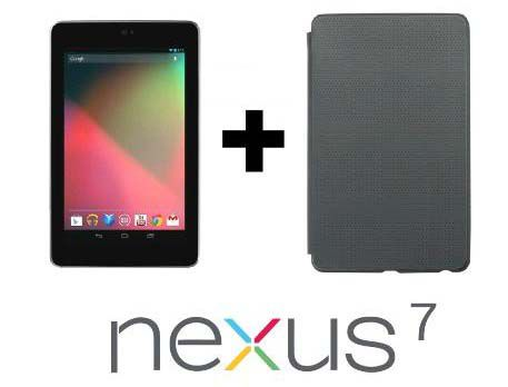Asus Nexus 7 (2012, WLAN, 16GB, black) + Schutzhülle für 79,99€