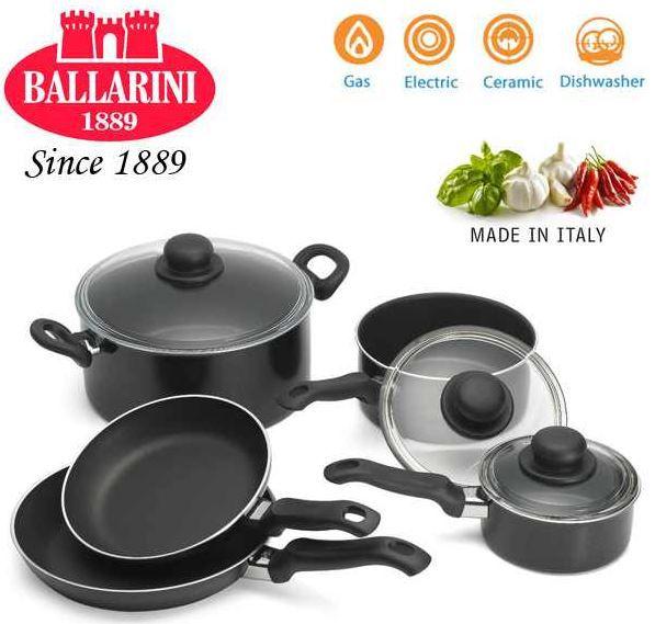 Ballarini Trend   schwarzes 8 teiliges Kochgeschirr Set für 45,90€
