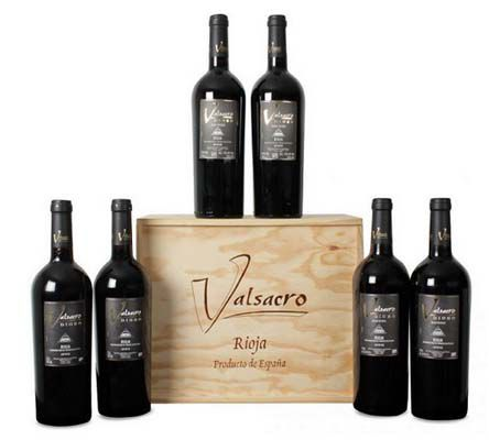 Bodegas Valsacro Dioro 6 Flaschen Bodegas Valsacro Dioro – Rioja DOCa Tinto (2001, 2002, 2003) in edler Holzverpackung für 41,49€