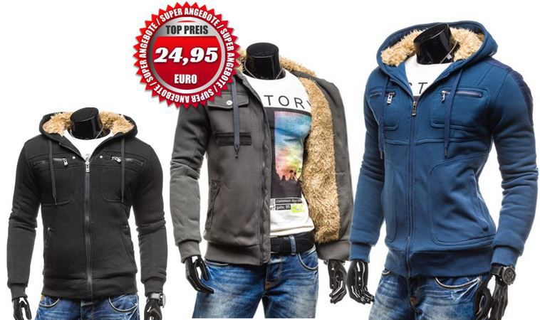 Bolf Bolf Modell Kamlin   gefütterte Hoodies und Sweatshirts für je 24,95€