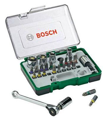 Bosch 26 tlg. Schrauberbit Set + Ratsche für 12,69€ (statt 15€)