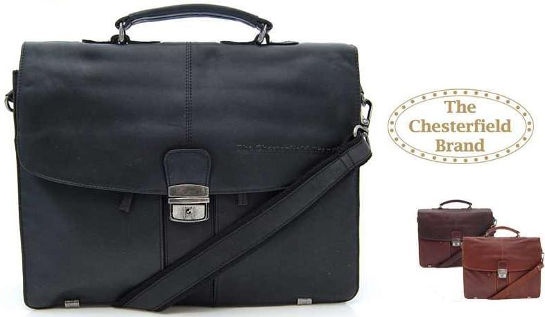 Chesterfield Brand Chesterfield LB 093   edle Leder Retro oder Vintage Laptoptasche statt 155€ für je 75,90€