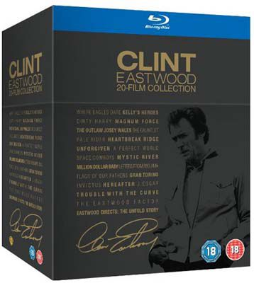 Clint Eastwood Blu ray Collection Clint Eastwood   20 Film Blu ray Collection für ca. 51€