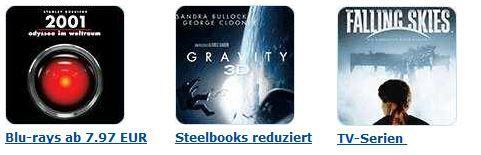 DVD Blu ray7  3 Blu rays für 15€ bei den Amazon: Eiskalt reduzierten Aktionsangeboten   Update