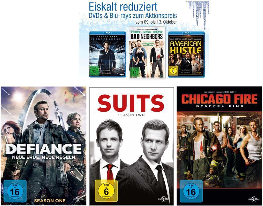 DVD Blu ray8  3 Blu rays für 15€ bei den Amazon: Eiskalt reduzierten Aktionsangeboten   Update