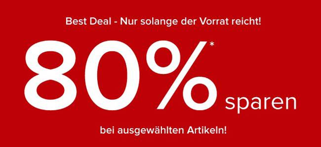 Nur heute 80% Rabatt auf ausgewählte Artikel + 10% oder 15% Gutschein + kostenlose Lieferung bei Dress for less
