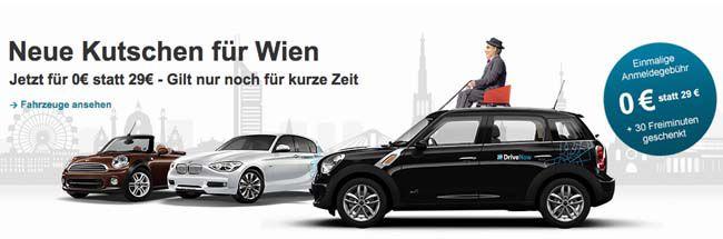 Kostenlose DriveNow Anmeldung + 30 Freiminuten zum kennenlernen   nur für Österreicher!