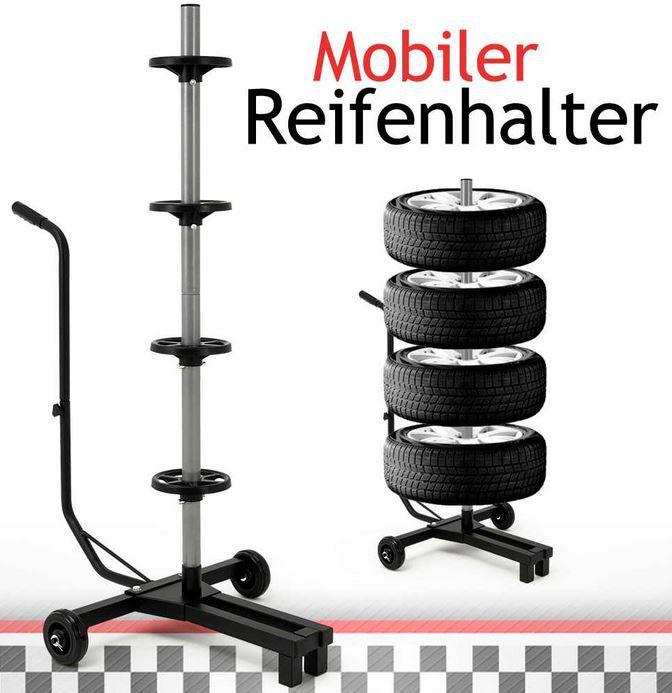 Felgenbaum   fahrbarer Reifenhalter für 4 Kompletträder nur 22,95€ inkl. Versand
