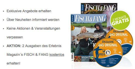 Fisch und Fang 2 Monate die Fachzeitschrift FISCH & FANG komplett kostenlos für Newsletter Abonnenten