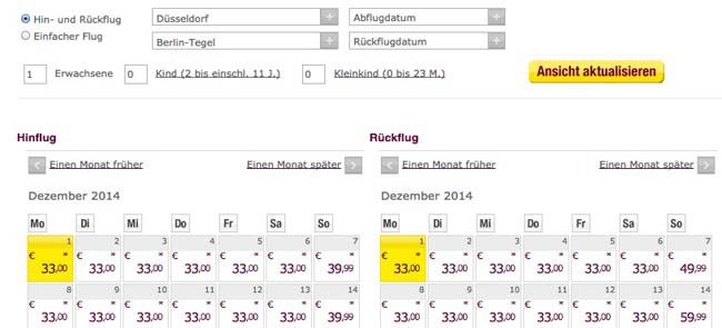 Germanwings Flüge
