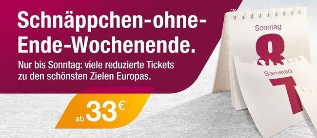Germanwings Flüge ab 33€ im Weekend Sale – z.B. Berlin Paris oder Düsseldorf Prag