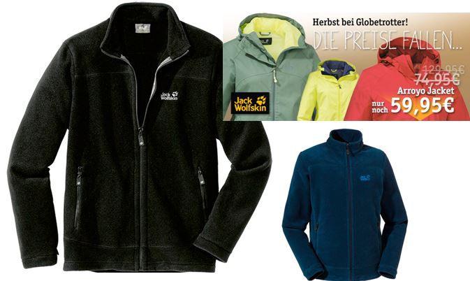 Jack Wolfskin Sale bei Globetrotter mit Rabatten bis zu 50%   z.B. Jack Wolfskin Midnight Moon Jacket statt 60€ für 39,95€