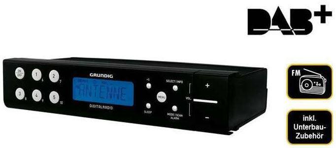 Grundig Sonoclock 691 DAB+ digitales unterbaufähiges Radio in schwarz für 55,55€