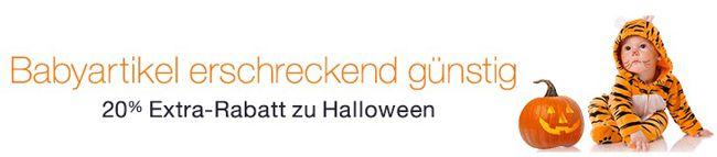 Halloween Rabatt 20% Extra Rabatt auf ausgewählte Babyartikel bei Amazon