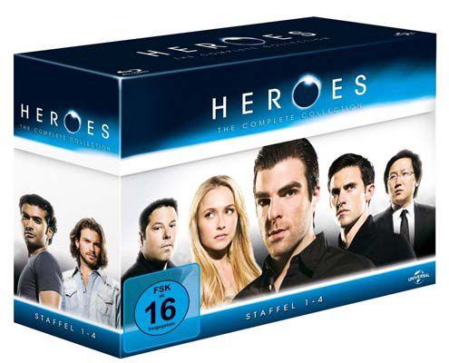 Heroes Blu ray Box Knaller! Heroes Komplettbox (Staffel 1 bis 4) auf Blu ray ab 24,99€