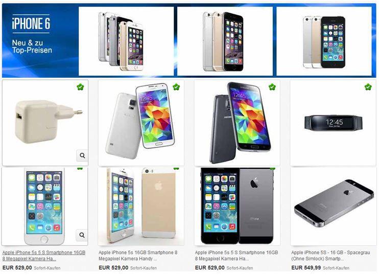 Iphone6 iPhone 6   neu und zu Top Preisen   ebay Smartphone Aktion mit 321Artikeln von HTC, Samsung ....