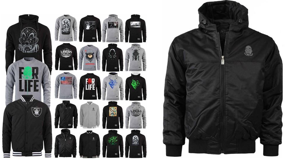 JOKER Brand USA   Hoodys, Sweatshirts, Jacken und Windbreaker für je 19,90€