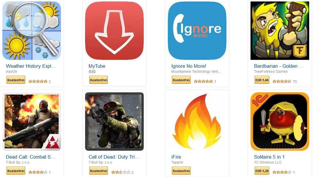 Tipp! Reduzierte und kostenlose Apps für Android und Fire Geräte @ Amazon   update