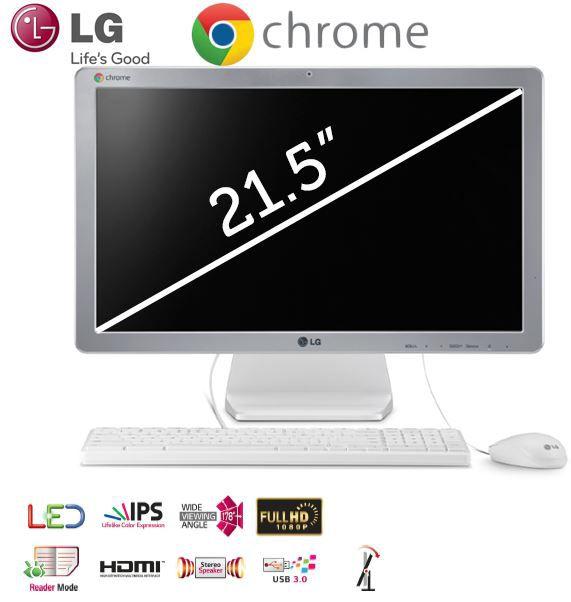 LG IPS CHROMEBASE 22V241   All in One PC mit Intel Celeron 2955U und 16GB SSD für 308,90€