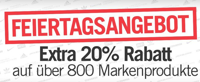 20% Extra Rabatt auf über 800 Markenprodukte bei Mandmdirect