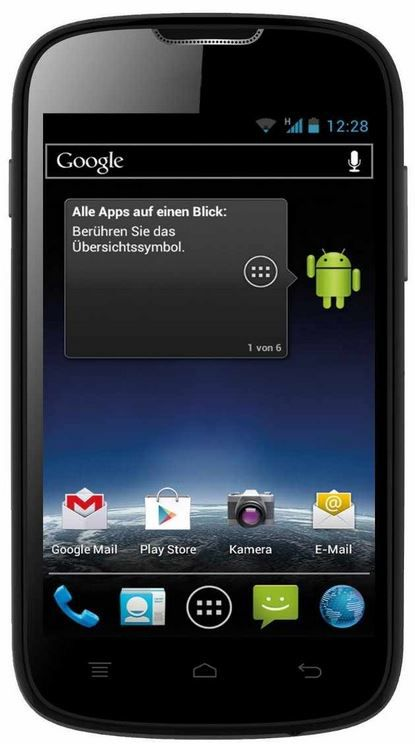 Medion Life E4001 (MD 98500)   4 Zoll Android 4.0 Smartphone mit 4GB für 49,99€