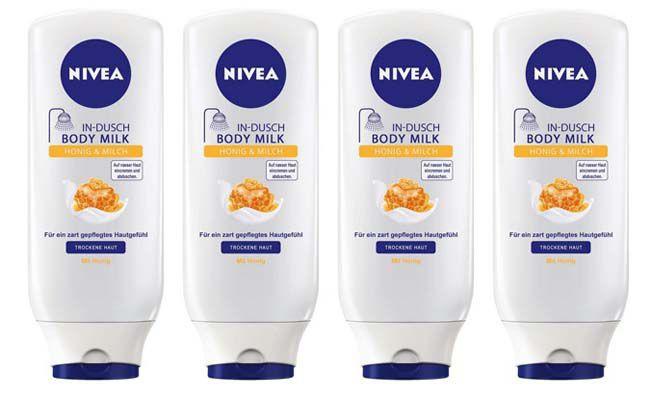 Nivea In Dusch Body Milk Honig & Milch 4er Pack (4 x 250 ml) ab 5,49€