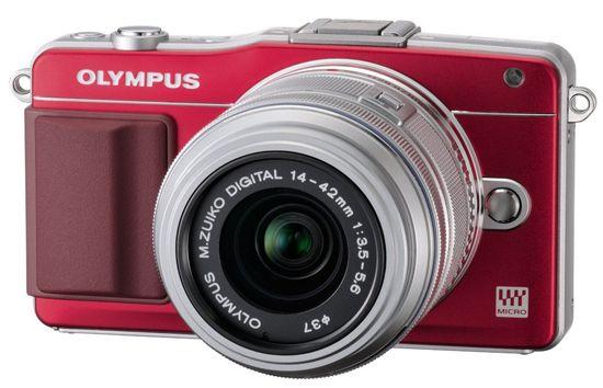 Olympus Pen mini E PM 2+14 42mm rot für 249€