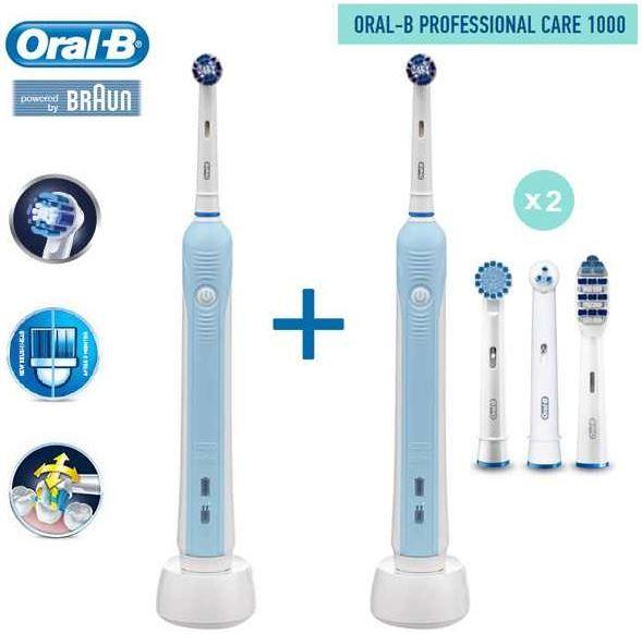 Oral B Professional Care 1000   elektrische Zahnbürste im Doppelpack statt 89€ für 65,90€