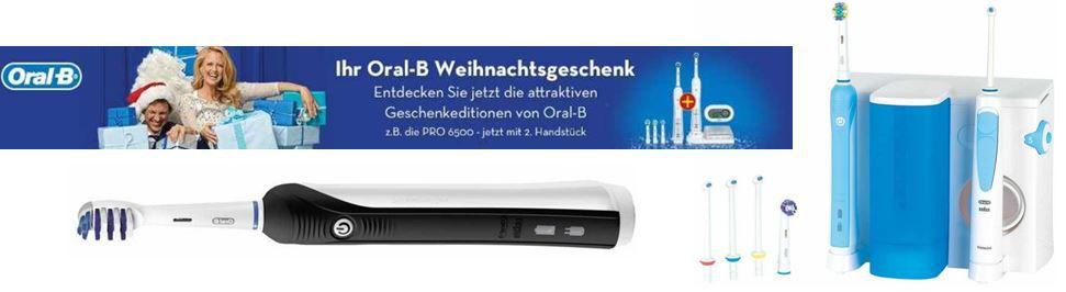 Braun Oral B Pro 750 Black eZahnbürste mit Reiseetui für 36,99€ bei Oral B Geschenkeditionen Aktion