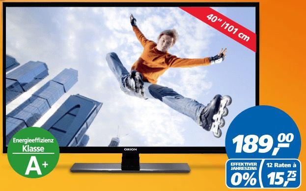 Orion CLB40B910   40 Zoll Full HD Fernseher für 189€   nur heute!