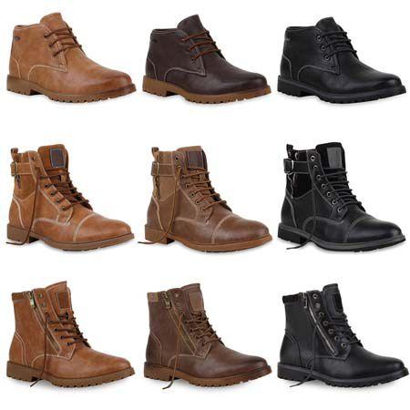 Outdoor Boots Verschiedene Herren Boots in Lederoptik für 29,90€