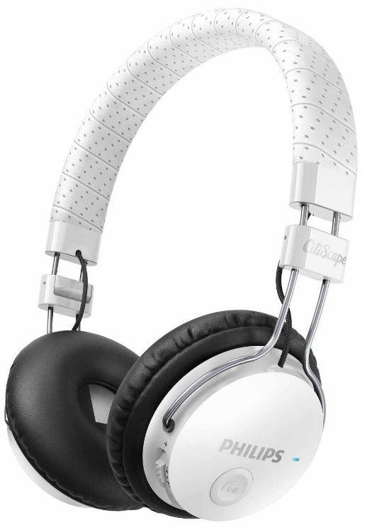 Philips CitiScape Foldie Philips SHB8000WT/00 CitiScape Foldie   Bluetooth Stereo Kopfhörer mit Mikrofon für 45,49€