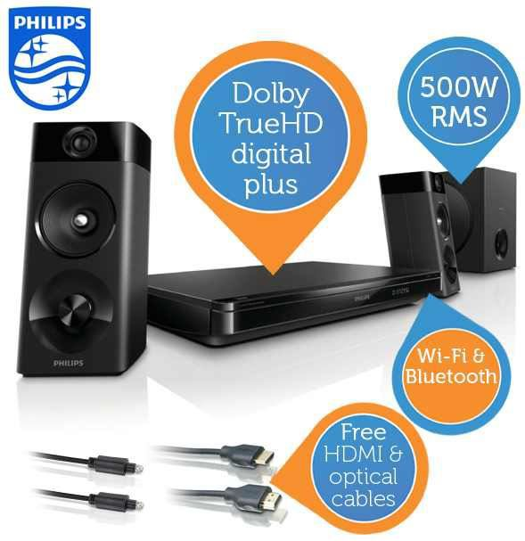 Philips HTB5255D   2.1 Home 3D Blu Ray Theater für 208,90€