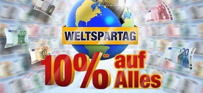 Plus1 10% Rabatt im Plus Online Shop zum Weltspartag