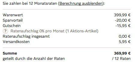 Ratenzahlung Otto Xbox One (ohne Kinect) 500GB + FIFA 15 + 2 Controller + Headset + 1 Monat Xbox Live Gold + HDMI Kabel für 369,99€ mit 0% Finanzierung über 12 Monate