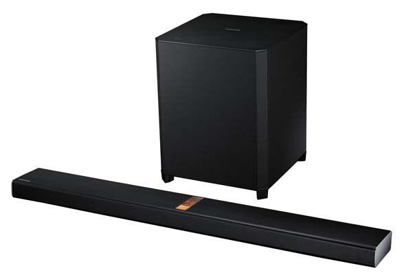 Samsung HW H750   4.1 Multiroom Soundbar (USB, ARC, Bluetooth, NFC, kabelloser Subwoofer) für 507,89€