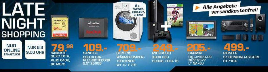 SANDISK Ultra SSD mit 256GB für 95€ – und mehr Saturn Late Night Sale Angebote   Update