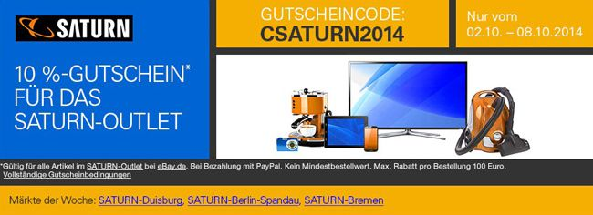 Saturn Outlet Saturn Outlet Angebote bei eBay + 10% Extra Rabatt