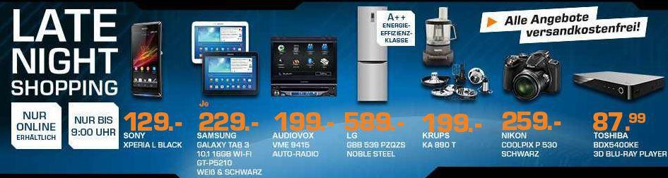 TOSHIBA BDX5400KE 3D Blu ray für 66€   KRUPS Titanium KA890T Küchenmaschine für 199€ – und mehr Saturn Late Night Sale Angebote