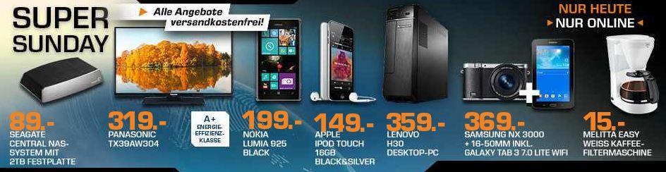 APPLE iPod touch 16 GB für 149€ und mehr Saturn Super Sunday Angebote